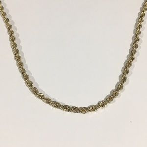 """Jewelry - 14k Yellow Gold Rope Chain Necklace 18"""" 3.75mm."""
